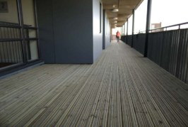 Anti-slip decking in Nottingham neighbourhood scheme