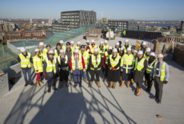 Topping out celebration marks high point for Woolwich development