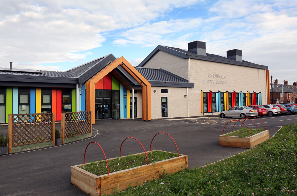 Colourful panels add finishing touches to Yorkshire school
