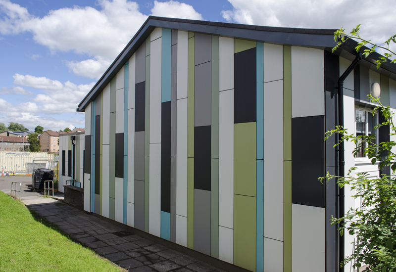 Glasgow's Cadder Primary School gets multi-coloured facelift