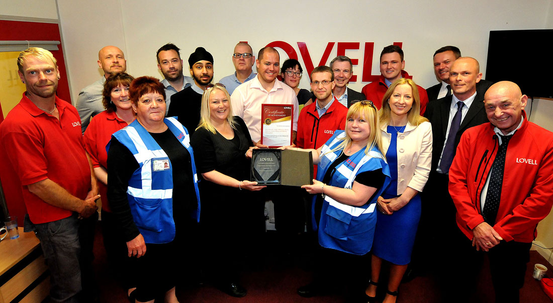 Outstanding safety performance by Lovell's Bristol team earns national award