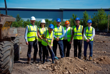 The first spade has been dug in a new £1m expansion to a thriving business hub in Shirebrook