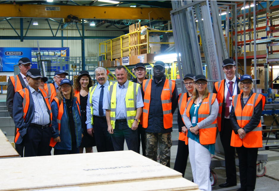 Northampton Partnership Homes tenants tour Fusion facility to see how light gauge steel superstructures are made