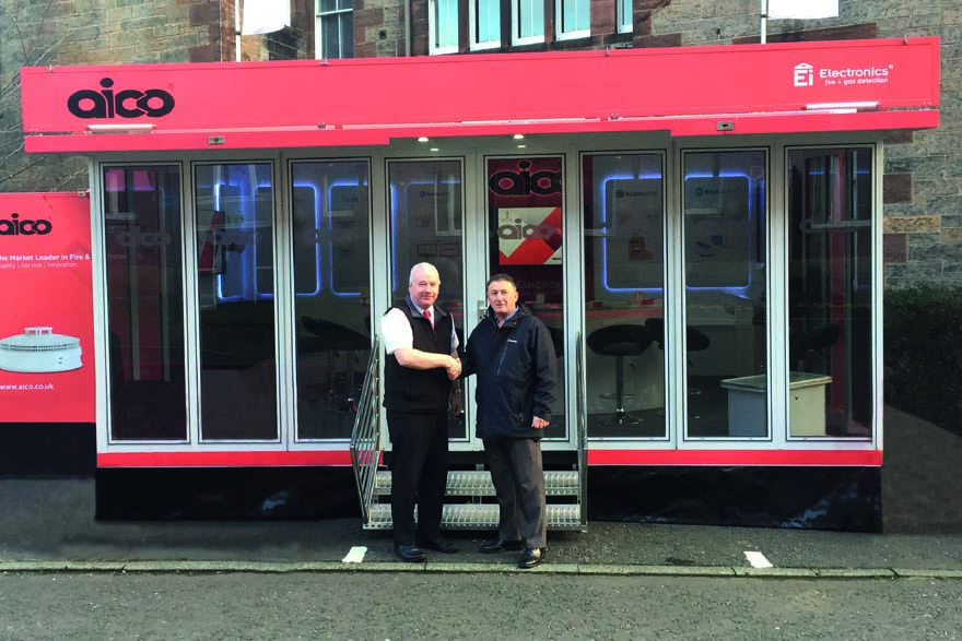 Aico mobile unit brings training and support to Port of Leith Housing Association in Scotland