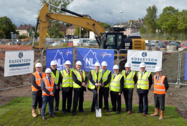 Sod cutting marks the start of new council housing development on former school site in North Lanarkshire
