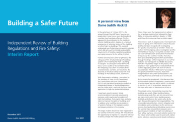 Tougher Building Regulation and Fire Safety recommendations welcomed by the dhf
