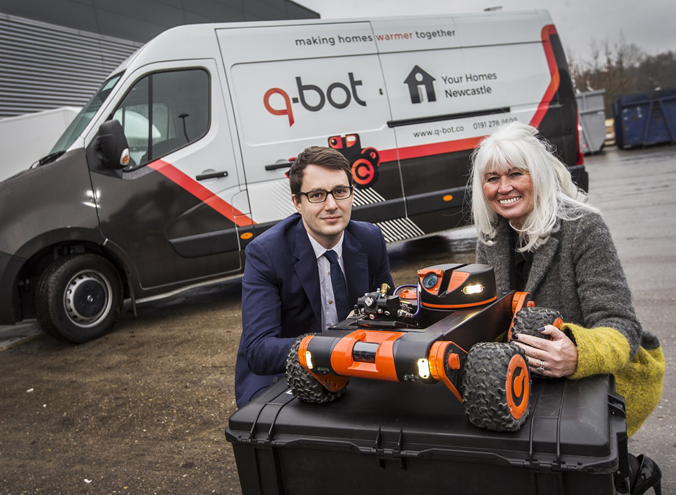 New partnership between YHN and Q-Bot could benefit 360,000 properties in the North of England