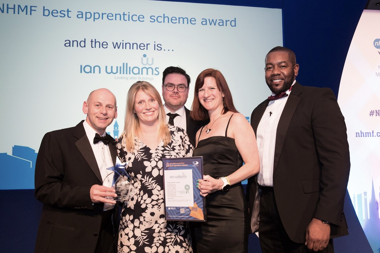Best Apprentice Scheme awarded to Ian Williams at the NHMF 2018 Awards