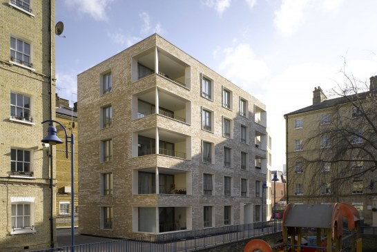 Wienerberger brick used on new-build housing block in an affordable London housing development