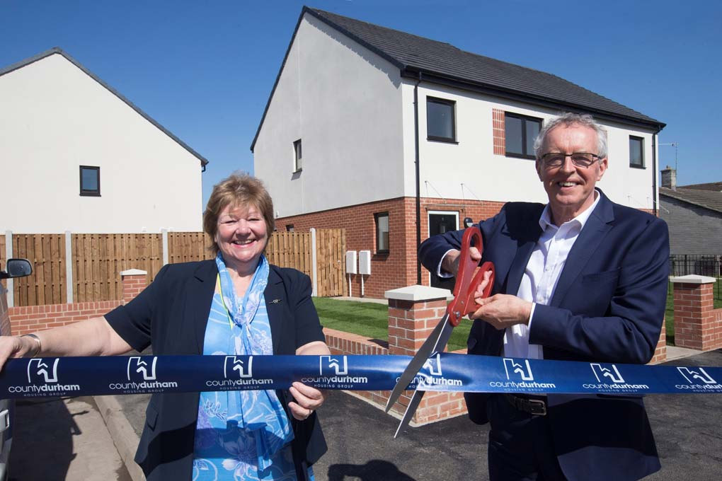 Affordable homes completed on former garage site in Pity Me, County Durham