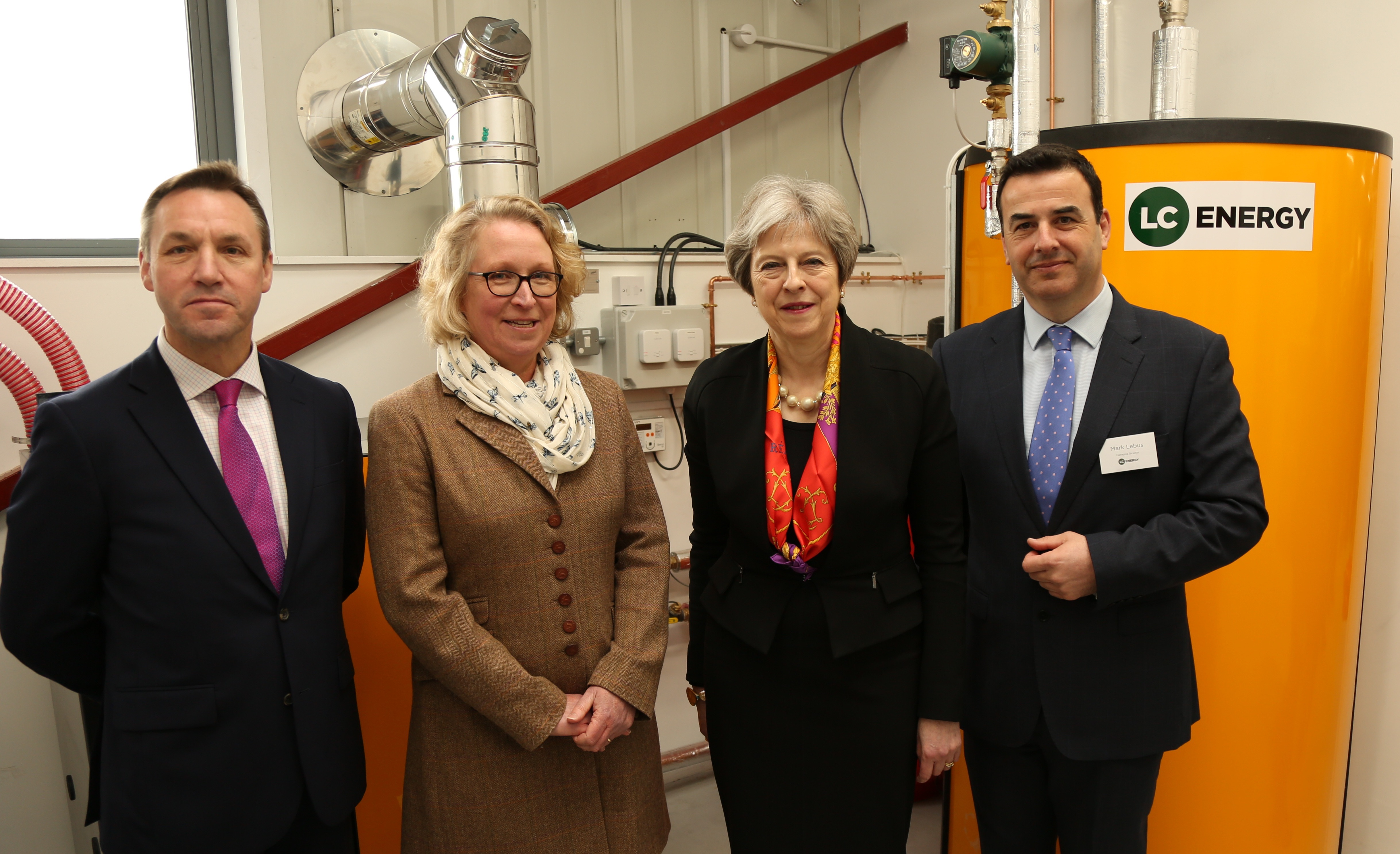 Theresa May opens the UK's first biomass training facility at a further education college