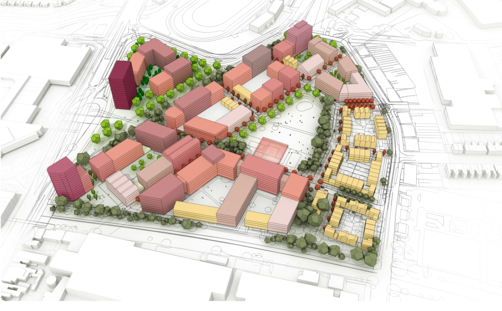 Images of the Birmingham 2022 Games Village released