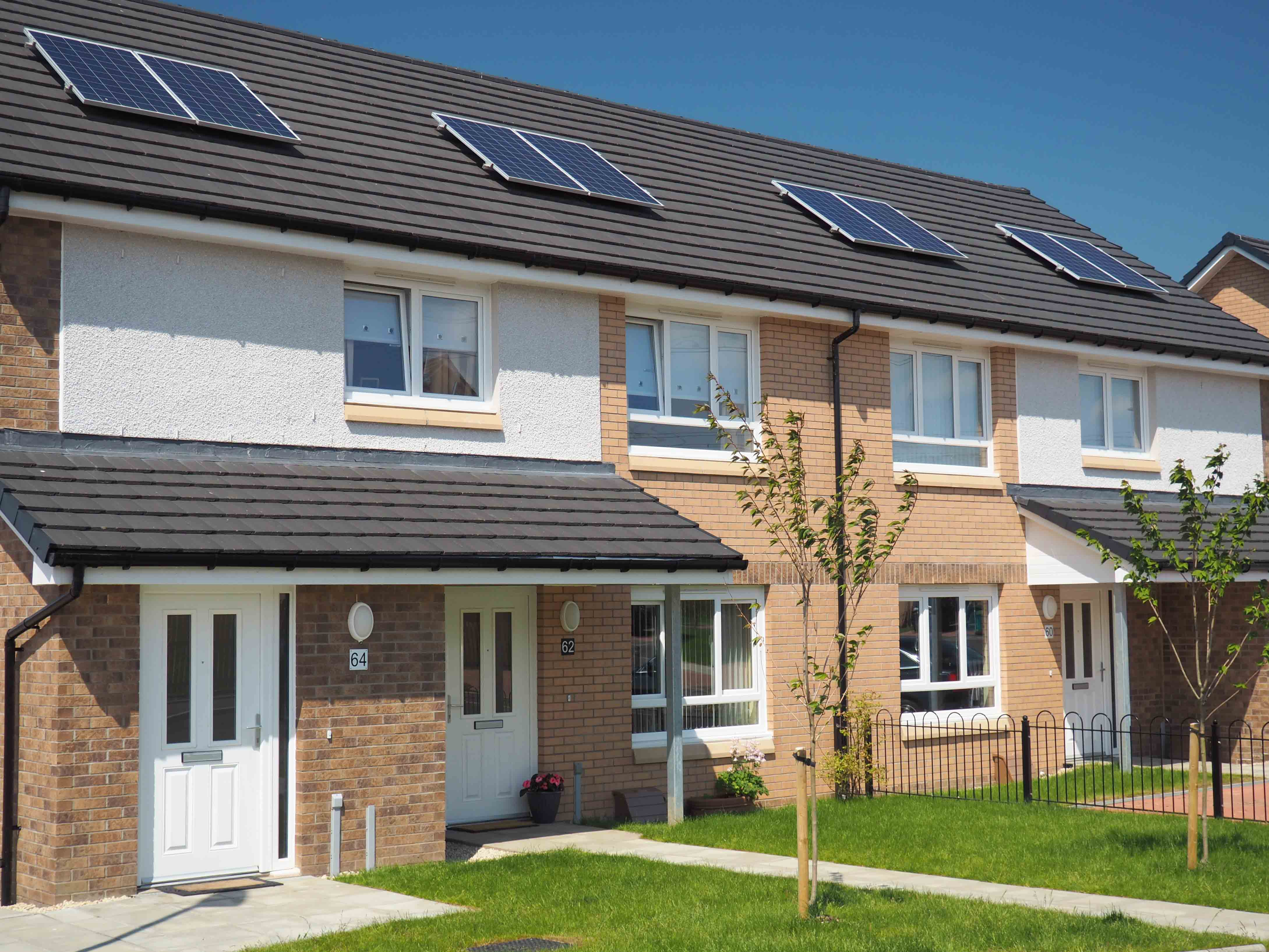 Cumbernauld council homes complete with Walker Profiles' windows and doors