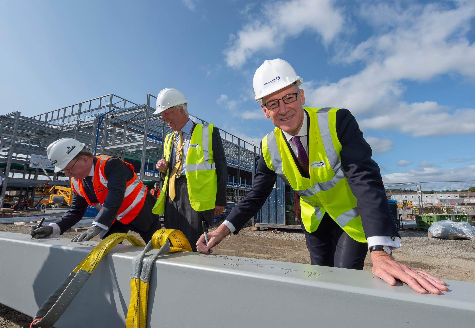 Deputy First Minister witnesses £55m Community Campus construction in action in Aberdeenshire