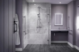Triton's new Elina TMV3 Bar Diverter mixer shower offers style and safety