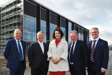 Topping out held ceremony for new £32.5m Bertha Park School in Perth
