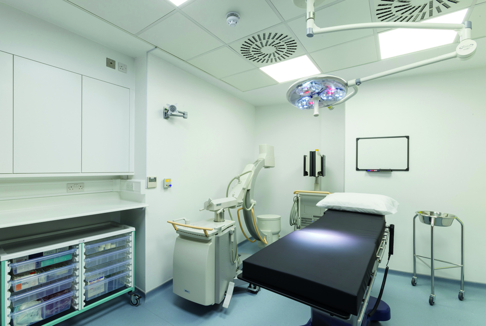 Knauf Safeboard is a lead free X-ray resistant plasterboard designed for hospital environments