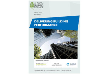 The UKGBC's Delivering Building Performance report