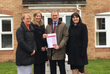 Rugby MP Mark Pawsey visits a shared ownership scheme in Bilton that is helping first-time buyers