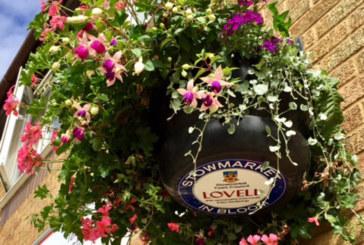 Lovell-sponsored hanging baskets help Stowmarket shopping street blossom