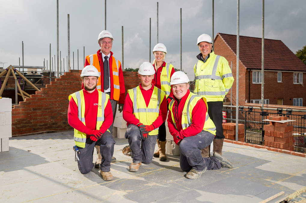 King's Lynn housing development kickstarts apprentices' construction careers
