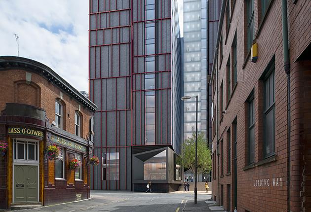 High gloss façade for student accommodation