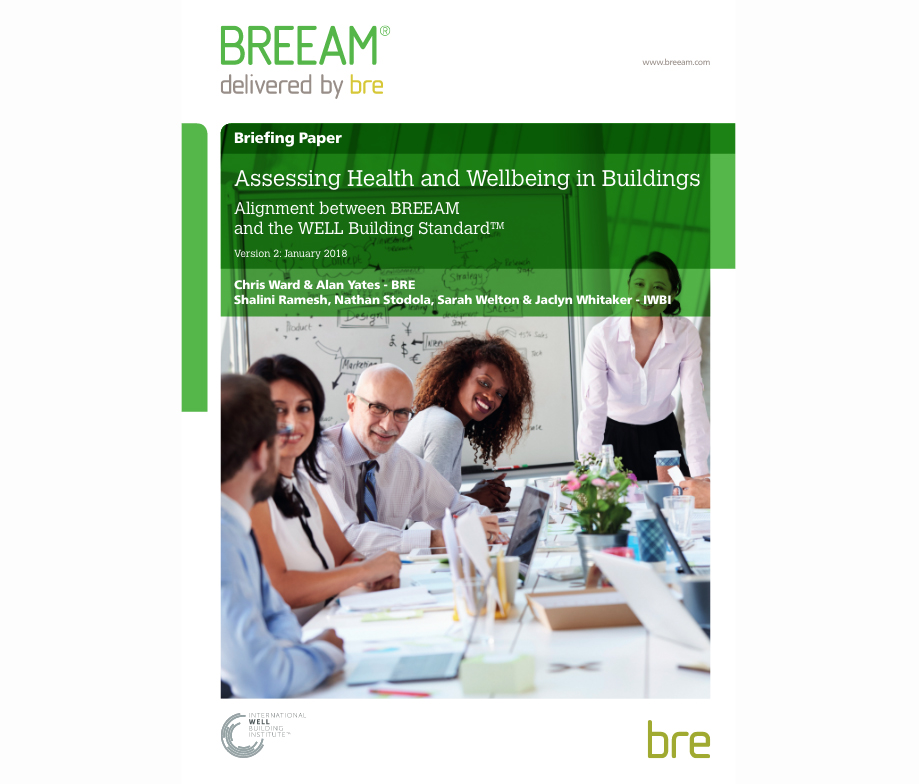 Improved guidance to streamline joint certification of BREEAM and WELL