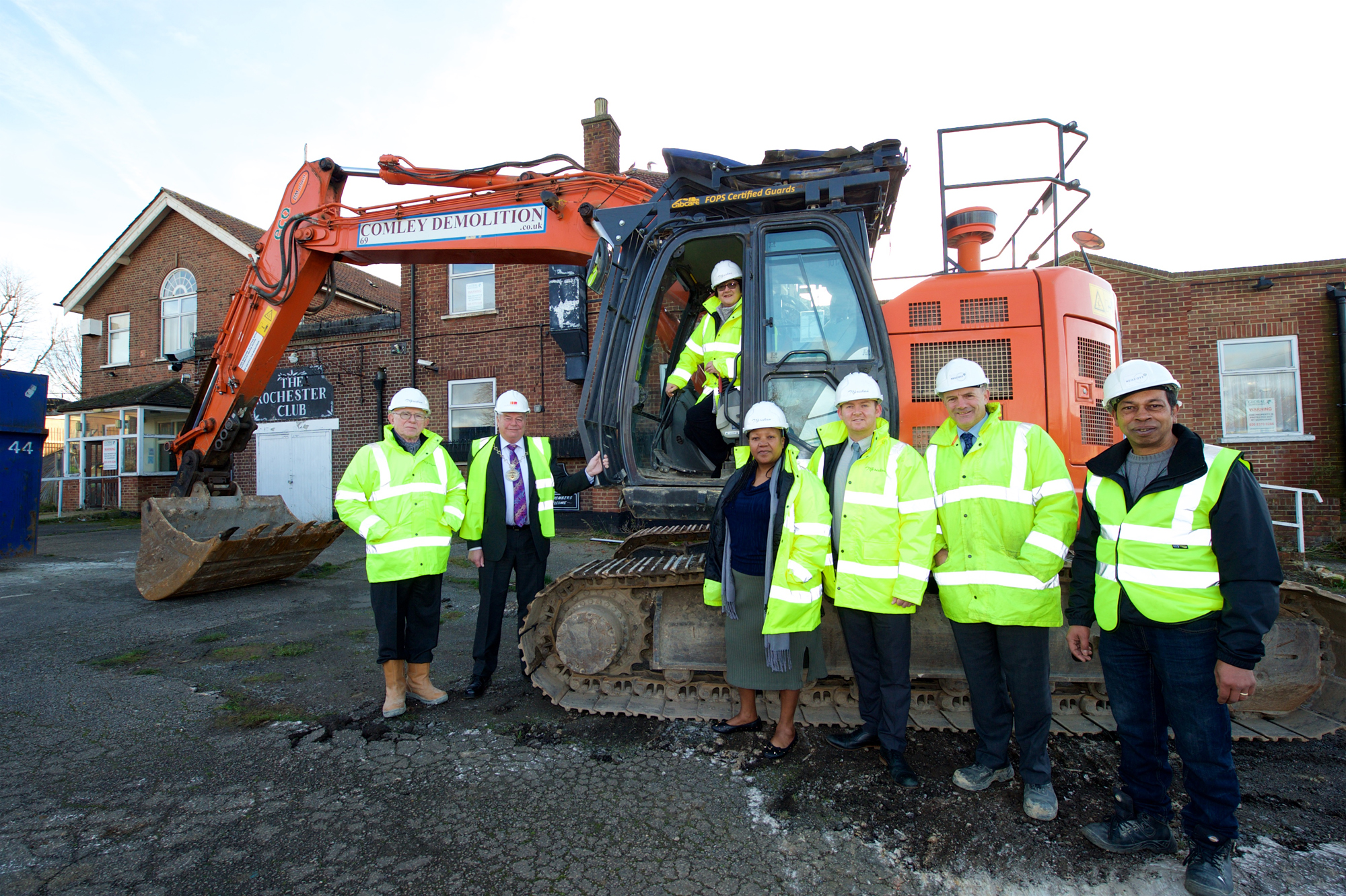 Ground-breaking on new affordable homes for Eltham