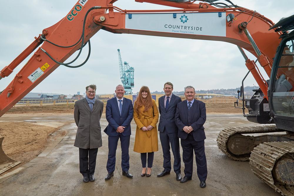 £419m Medway regeneration project Rochester Riverside breaks ground