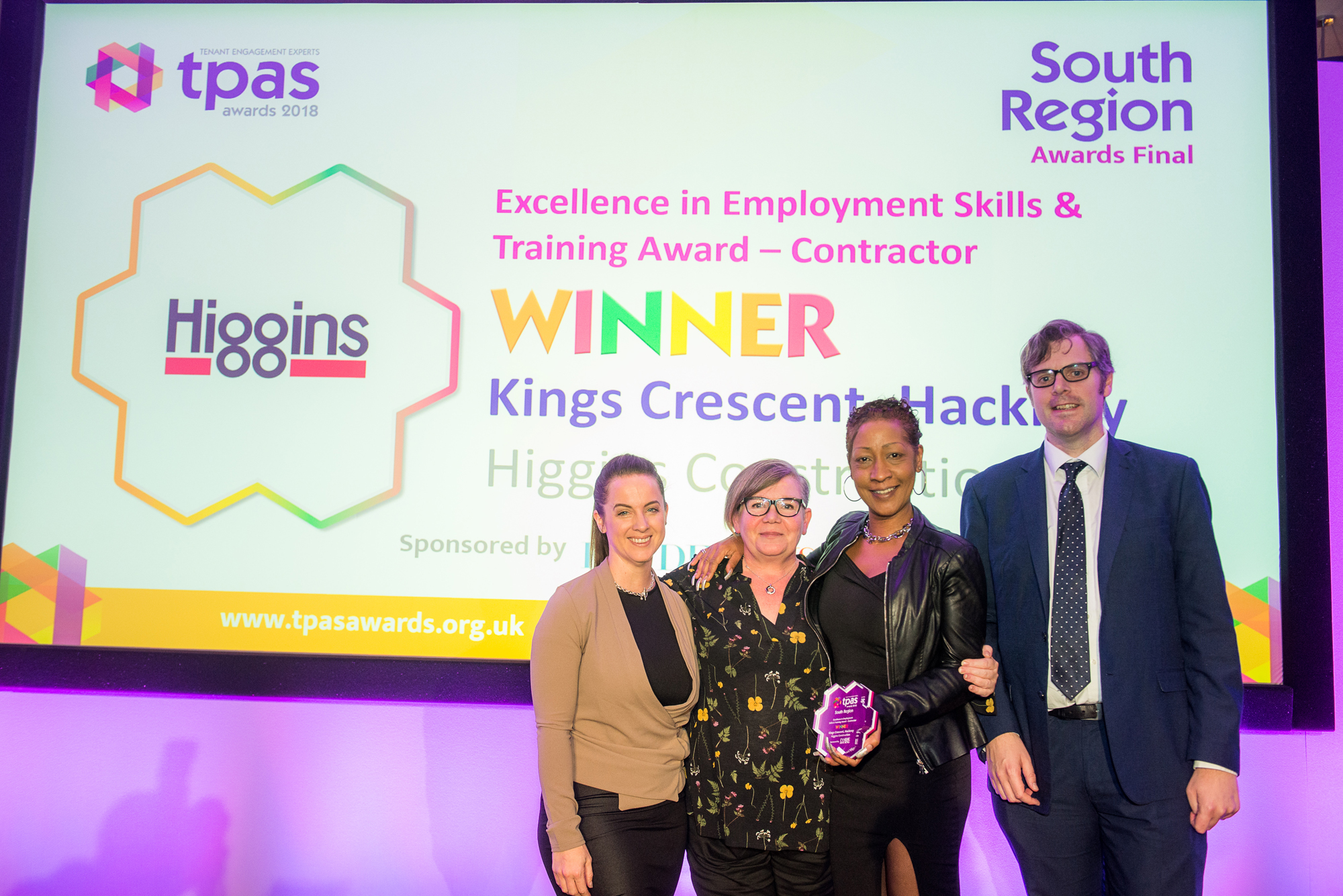 Higgins Construction wins TPAS award for Employment, Skills and Training