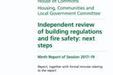 Government issues report on building regulations and fire safety