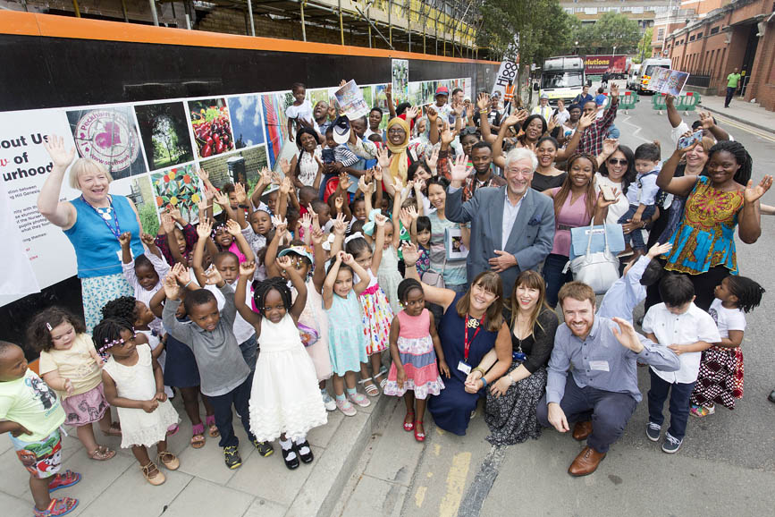 'The World About Us… A Child's View of our Neighbourhood' photographic work unveiled for art hoading project in Peckham