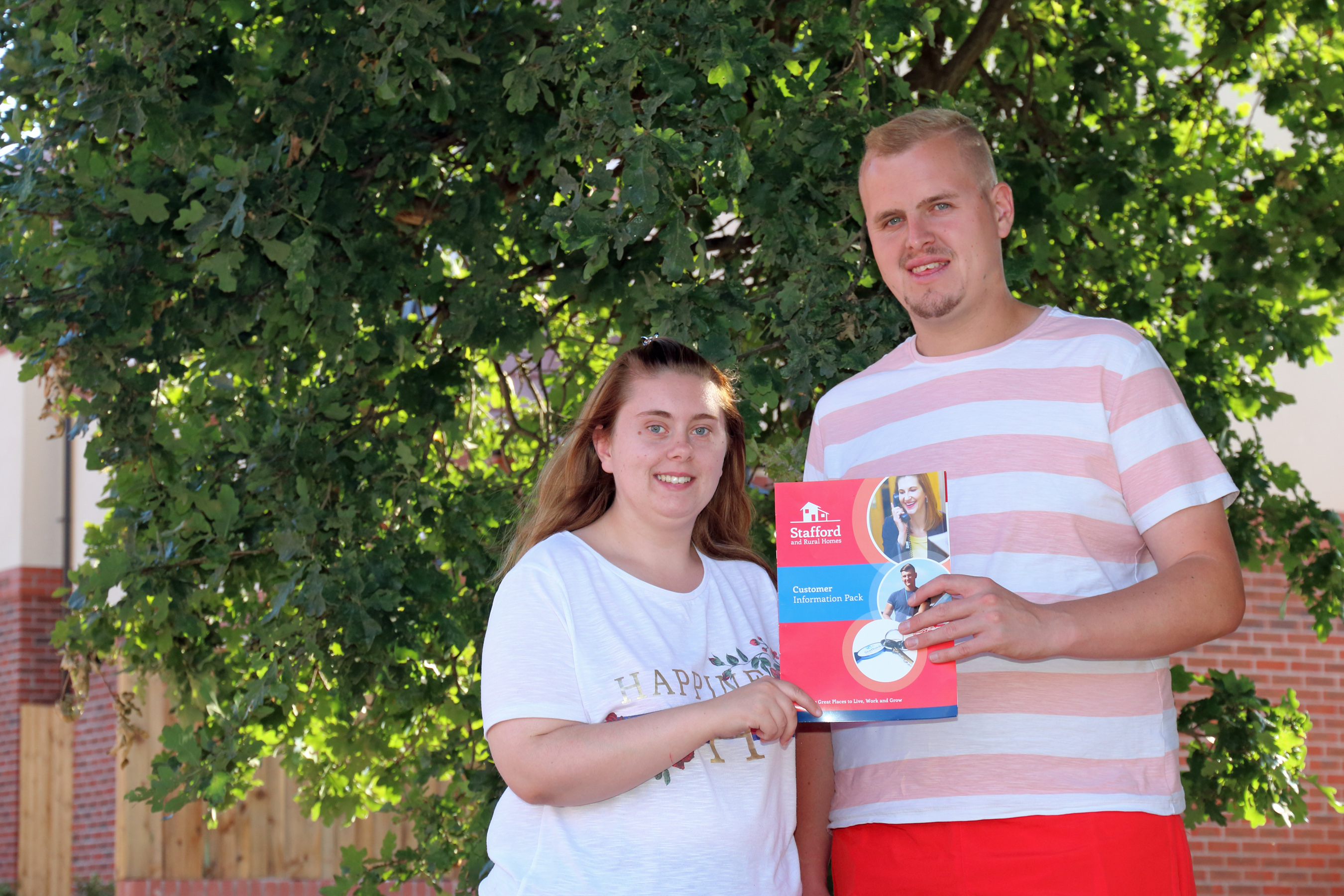 Stafford and Rural Homes help young couple find an affordable place to live in their local area
