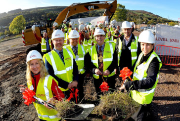 Breaking-ground ceremony marks start of work on 153 new homes at former Merthyr Vale Colliery
