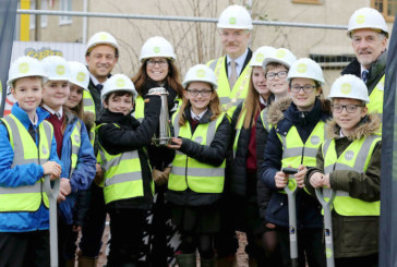 Curo marks new construction start with time capsule burial