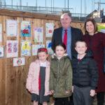 Children create site safety posters for new Durham Villages Regeneration Company scheme