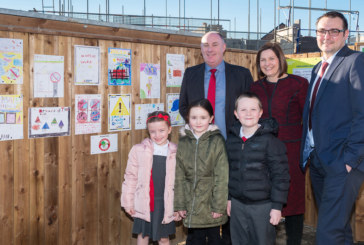 Children create site safety posters for new Durham Villages Regeneration Company scheme