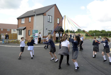 Traditional maypole celebration for new Walgrave homes