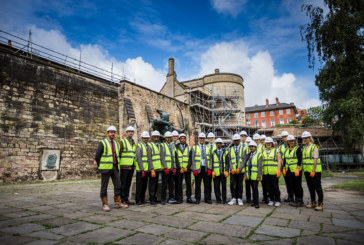 Construction careers | Pupils tour Nottingham Castle restoration site