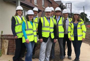 Councillors tour community-led scheme for Rural Housing Week
