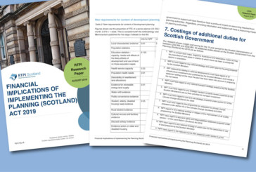 Cost of Planning Act duties could reach £59m, RTPI Scotland finds