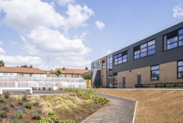 Derelict football stadium transformed into school