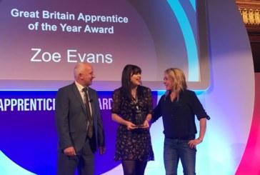 Triple win at CITB awards for Ian Williams' apprentice Zoe