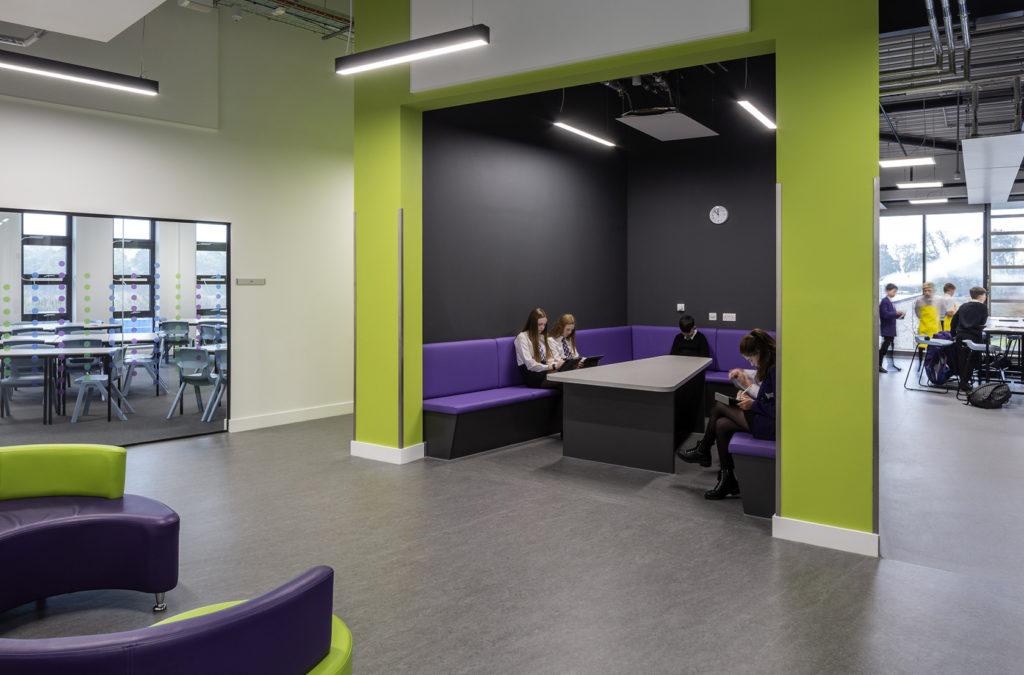 Bespoke furniture installed at Bertha Park High School in Scotland