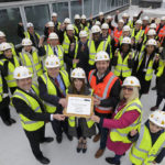 Royal Greenwich Trust School celebrates topping out of new extension
