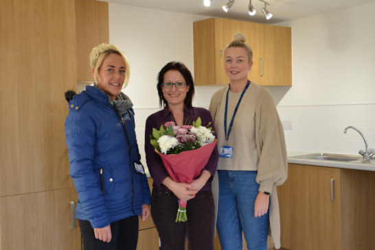 Two Rivers Housing Samantha moves into 'milestone' flat