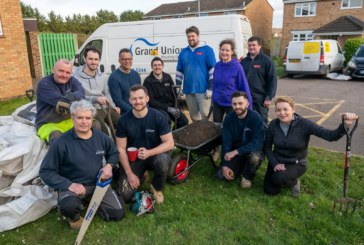 Green fingered Grand Union staff volunteer in Flitwick