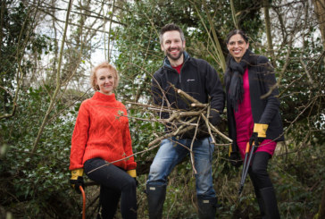 Stonewater and Community Forest Trust clean up Dinton Pastures following floods