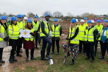 First Spade in the ground as redevelopment of Burnham Grammar School begins