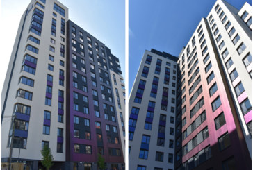 Non-combustible façade solutions specified for high-rise student accommodation